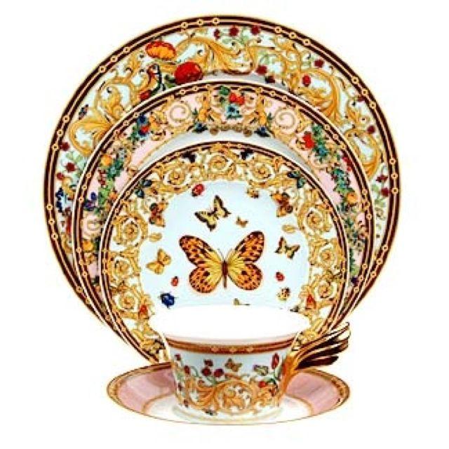 Rosenthal Meets Versace Butterfly Garden Dinnerware China Dinnerware Dinnerware Tea Cups
