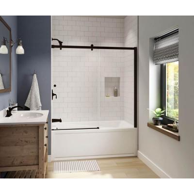Maax Luminescence 59 In X 57 1 2 In Frameless Sliding Tub Door In Dark Bronze 138994 900 173 000 In 2020 Shower Doors Small Bathroom With Shower Bathroom Renovations