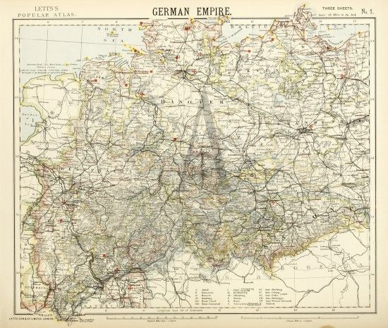 German Empire | Antique maps, Antique prints, Prints
