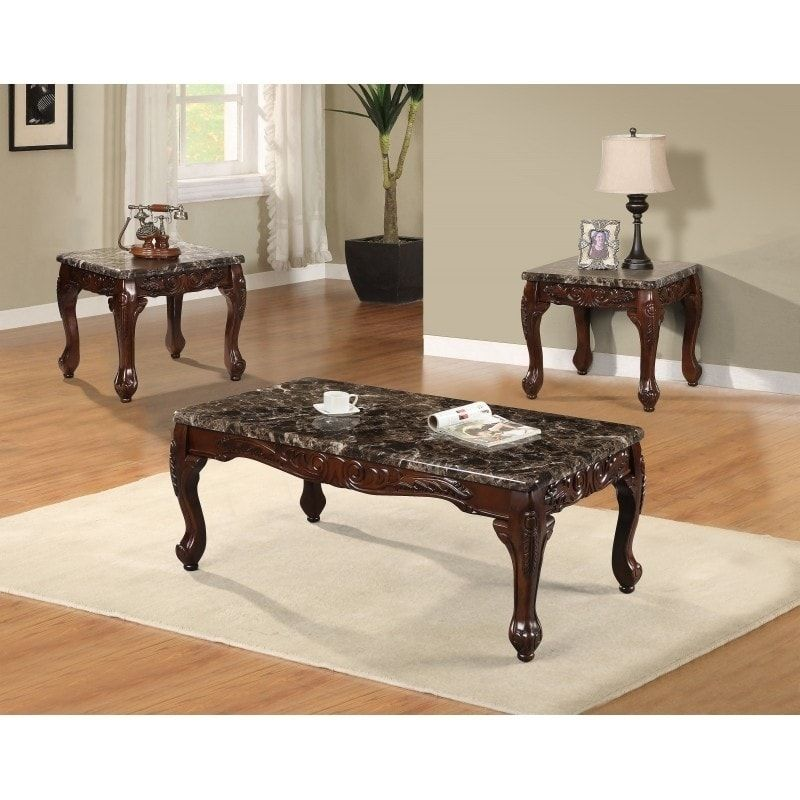 Fantastic Best Quality Furniture 3 Piece Faux Marble Coffee And End Caraccident5 Cool Chair Designs And Ideas Caraccident5Info
