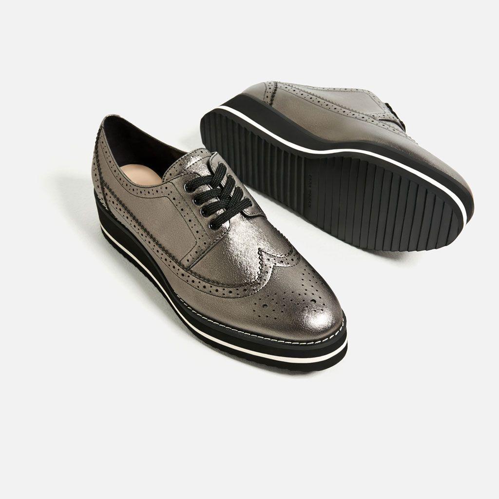 Image 1 Of Platform Bluchers From Zara Oxford Schuhe Outfit Lederschuhe Damen Oxford Schuh