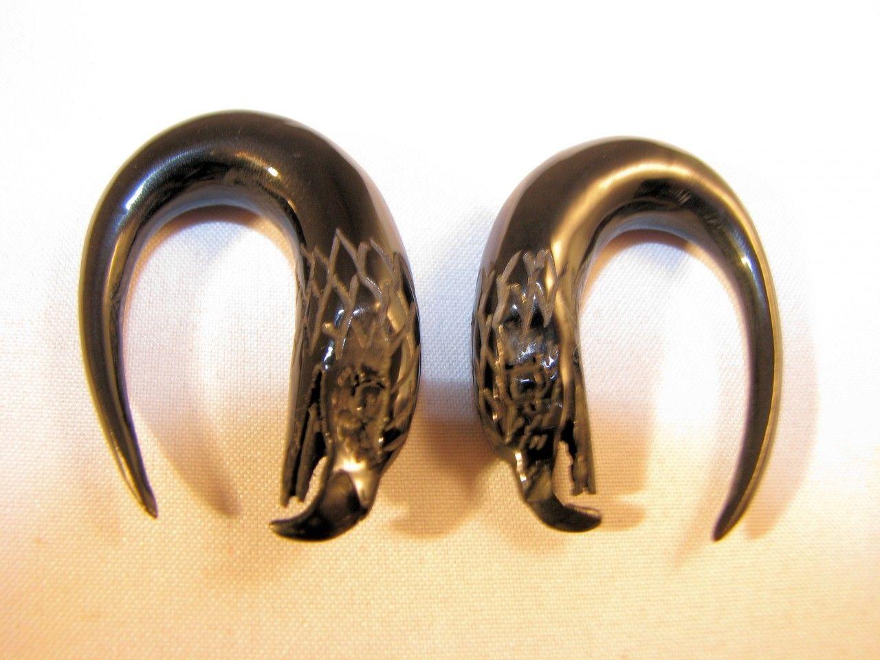 PAIR 6g EAR WEIGHTS BRASS /& STONE GAUGES EARRINGS PLUGS TALONS PLUGS 4mm