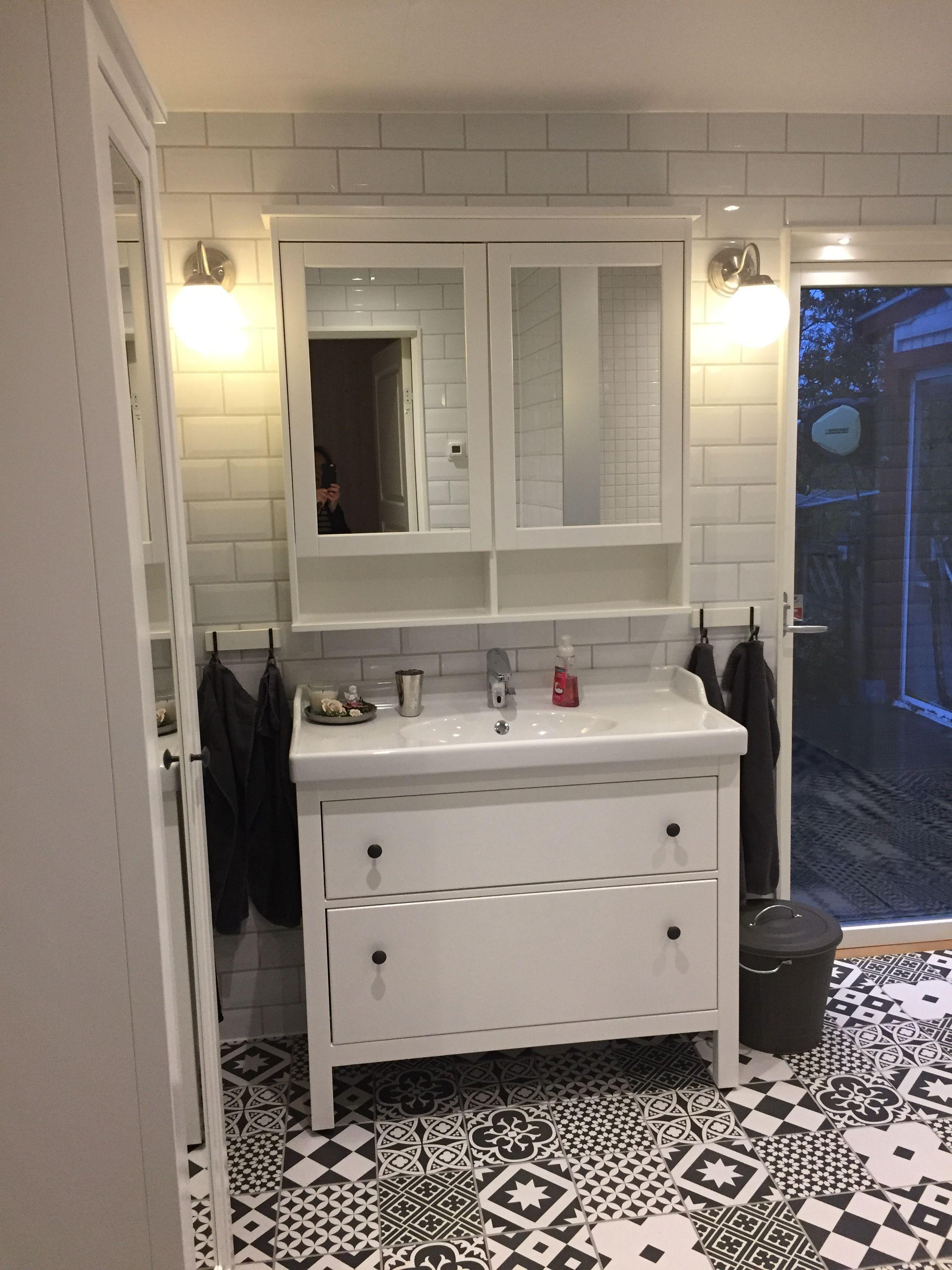 Badrum Med Hemnes Fran Ikea Weisse Badezimmer Badezimmer Wohn Design