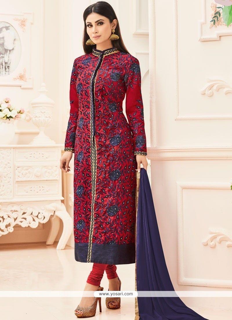 64f16dbb88 Mouni Roy Churidar Designer Suit in 2019 | Churidar Salwar Suits ...