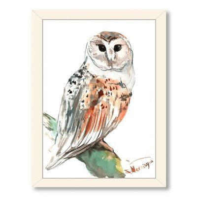 Americanflat Owl 2 by Suren Nersisyan Painting Print on Canvas