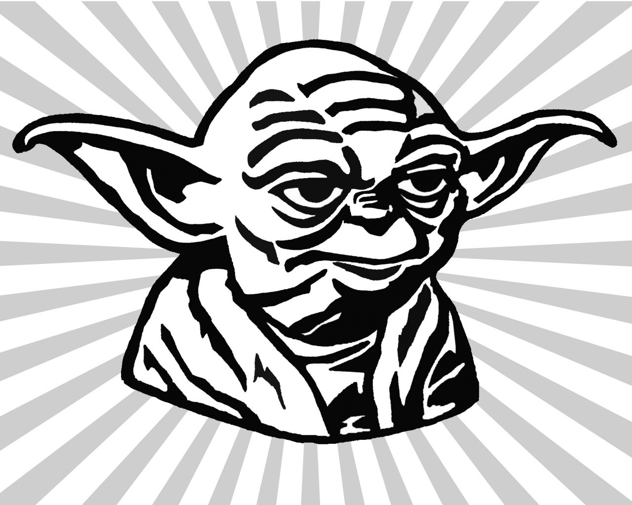 Yoda black and white clipart clipart kid