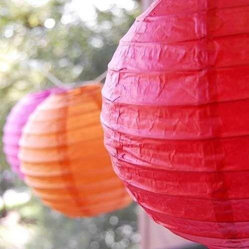 Lamparas De Papel Chinas Balones Pompones Banderines - $ 20,00