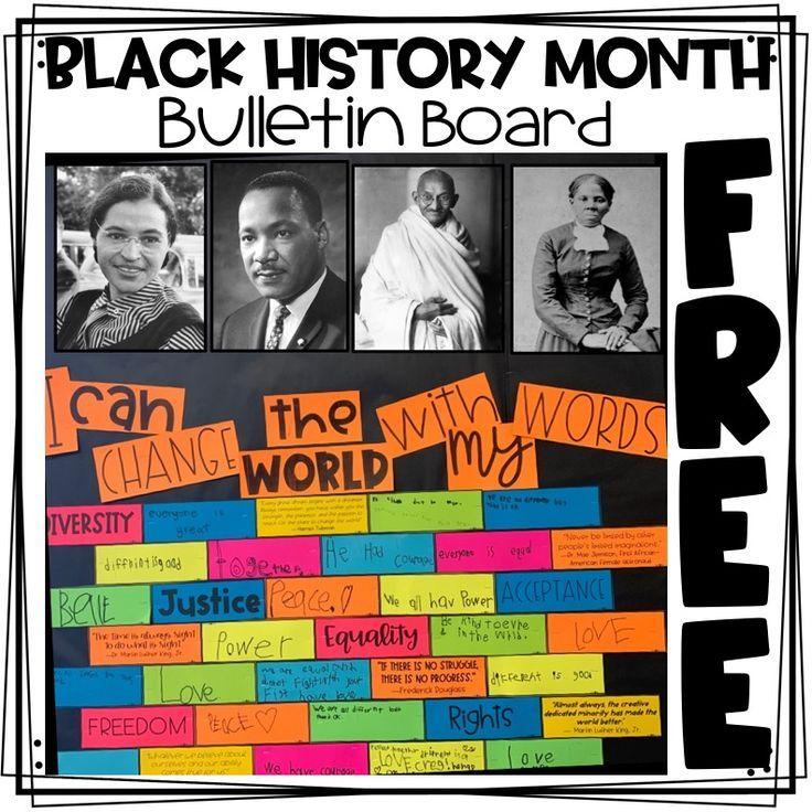 Photo of Black History Month Bulletin Board FREEBIE