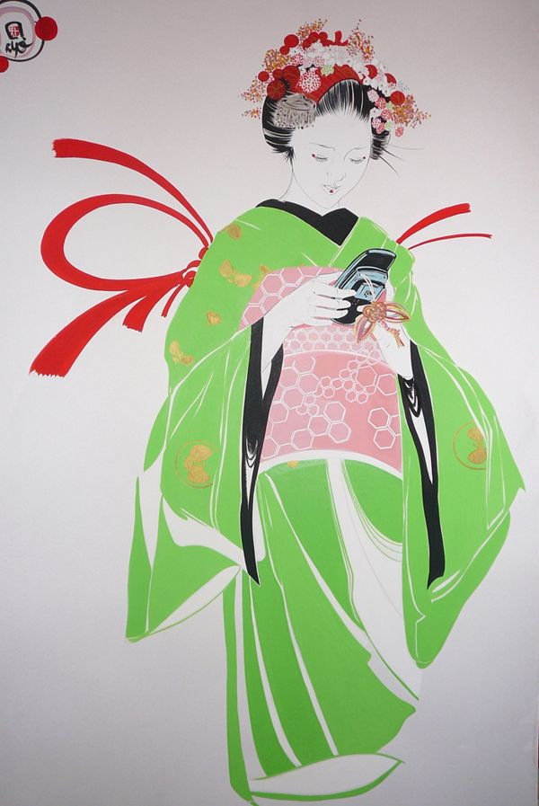 my work in japan and patern by phil burger, via Behance
