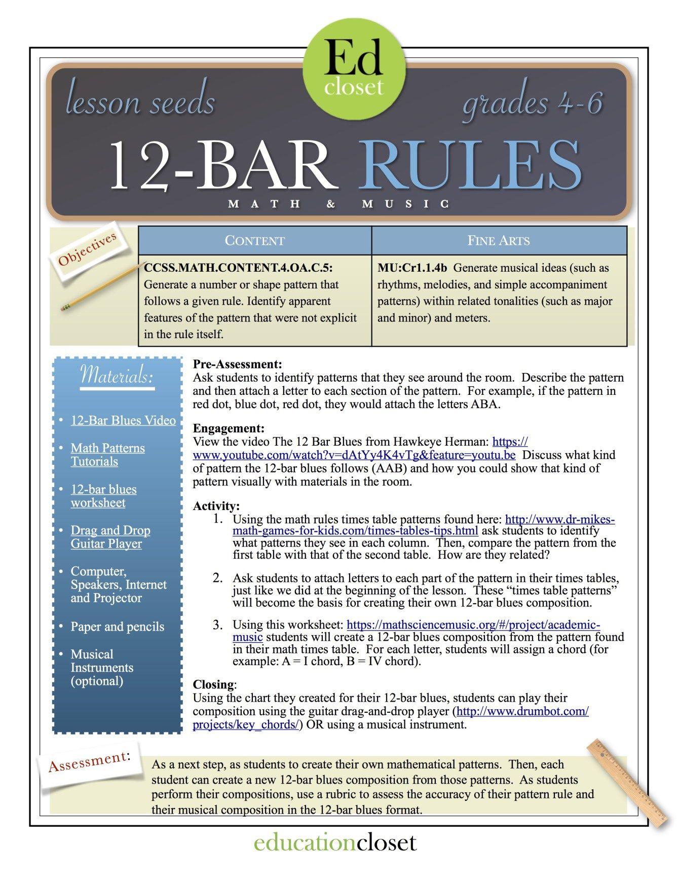 12 bar rules STEAM