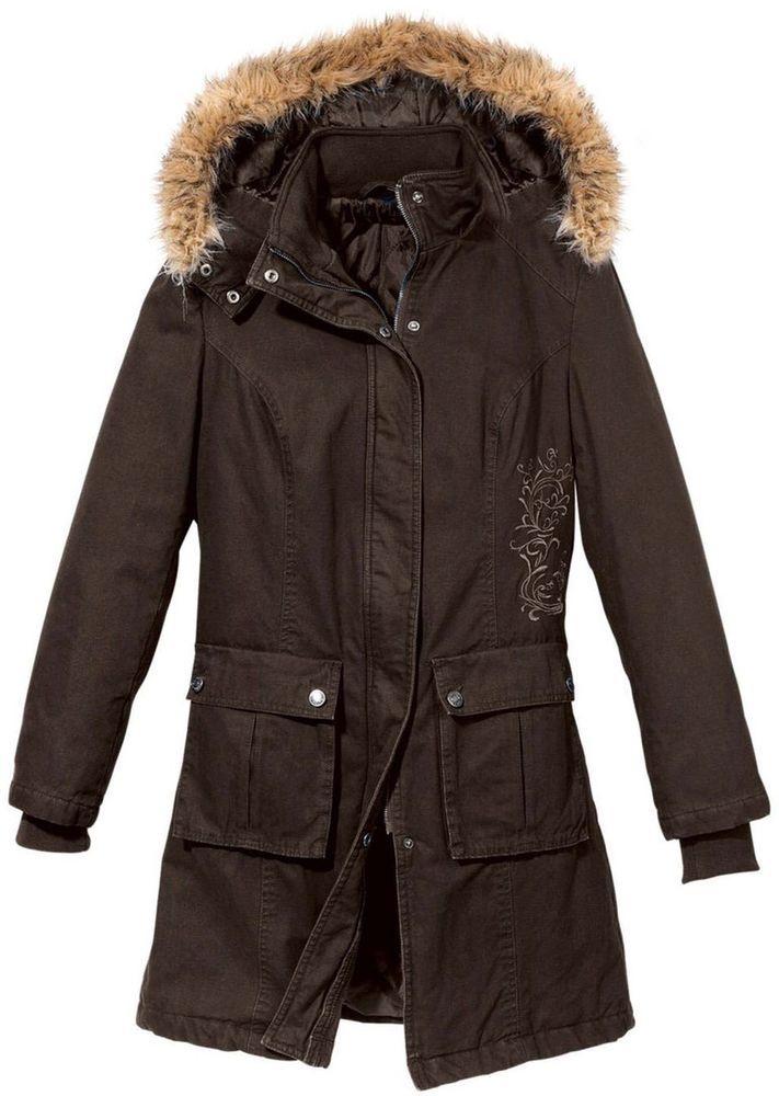 sale retailer 3d712 4138b Damen Parka Winter Jacke braun Neu Gr. 44 | $ eBay World ...