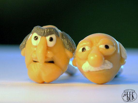 Custom - The Muppets inspired Cufflinks - Statler & Waldorf via Etsy
