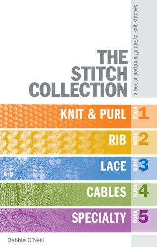 The Stitch Collection: A Box of Portable Guides to Knit Stitches by Debbie O'Neill http://www.amazon.com/dp/1600593917/ref=cm_sw_r_pi_dp_dWwhwb0KQ36RZ