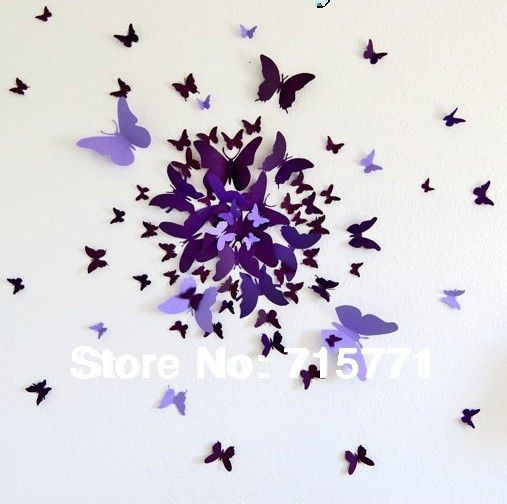 44 Two Tone Butterfly Peel Off Sticker Sheet For Wedding Cardmaking Craft