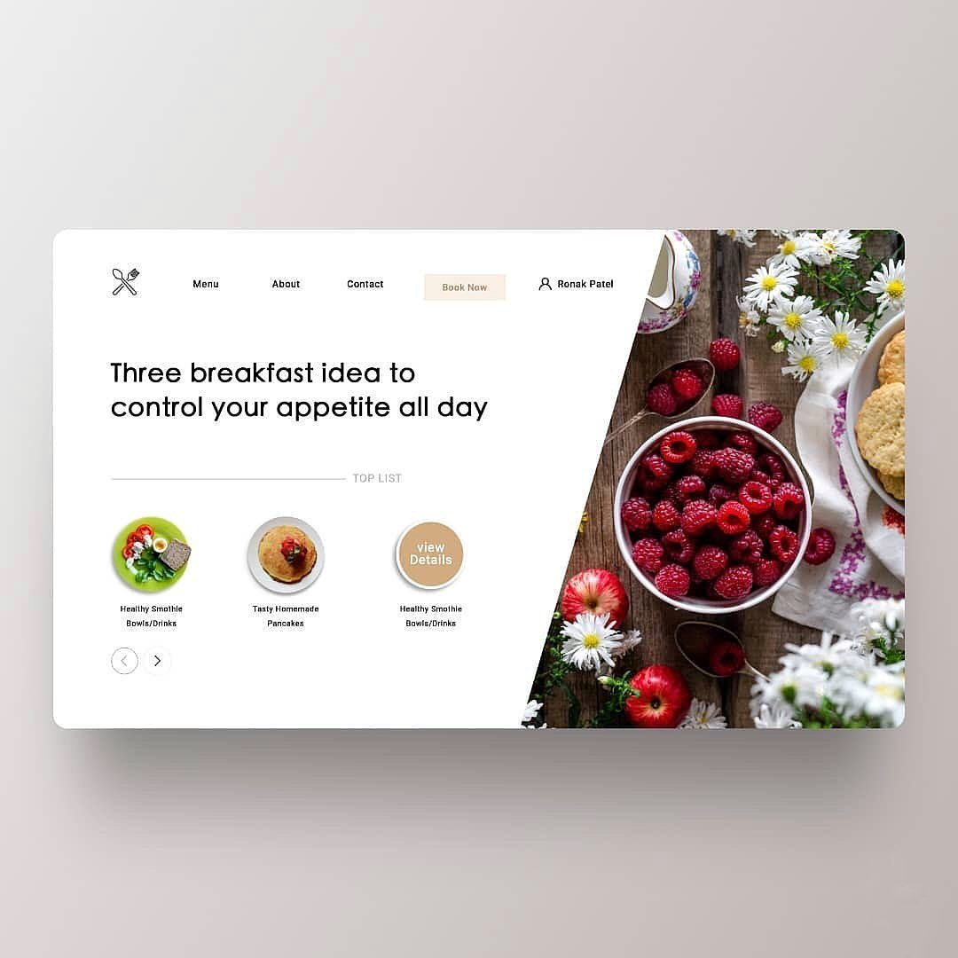 Homepage User Interface For Rp Have A Question Dm Us Follow Theuiuxcollective For Daily Food Web Design Online Web Design Web Layout Design
