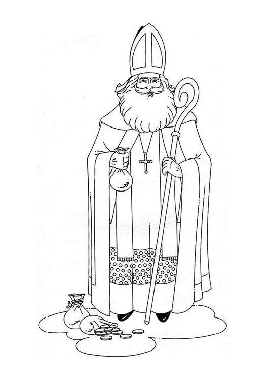 Kleurplaat Sinterklaas Afb 8882 Ausmalbilder Nikolaus Sankt Nikolaus St Nikolaus