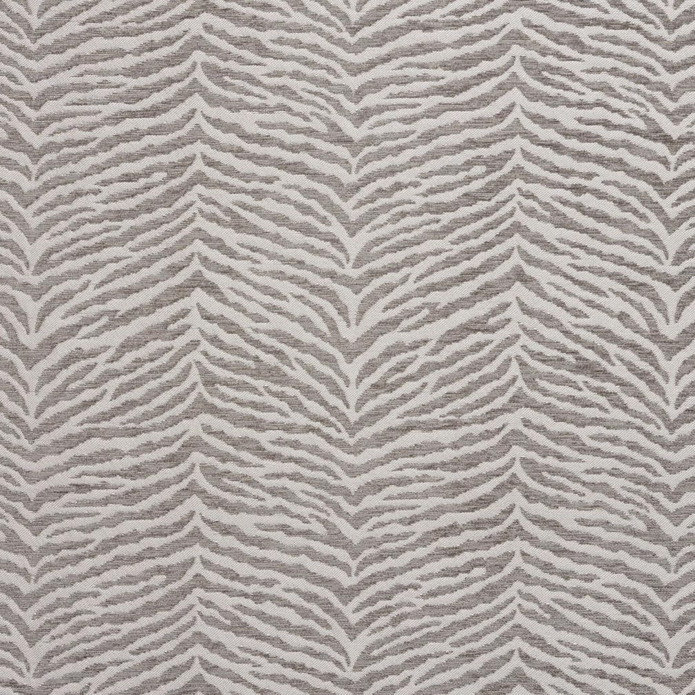 Essentials Chenille Gray White Animal Pattern Zebra Tiger Upholstery Fabric Upholstery Fabric Animal Print Upholstery Chenille Fabric