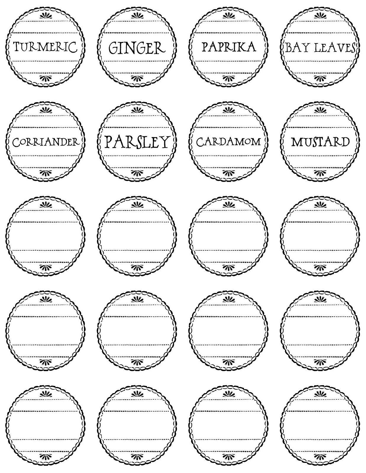 5 best images of vintage spice labels free printable free