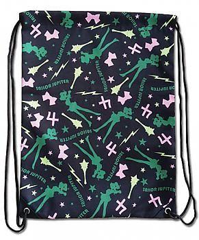 Sailor Moon Drawstring Backpack - Sailor Jupiter Pattern