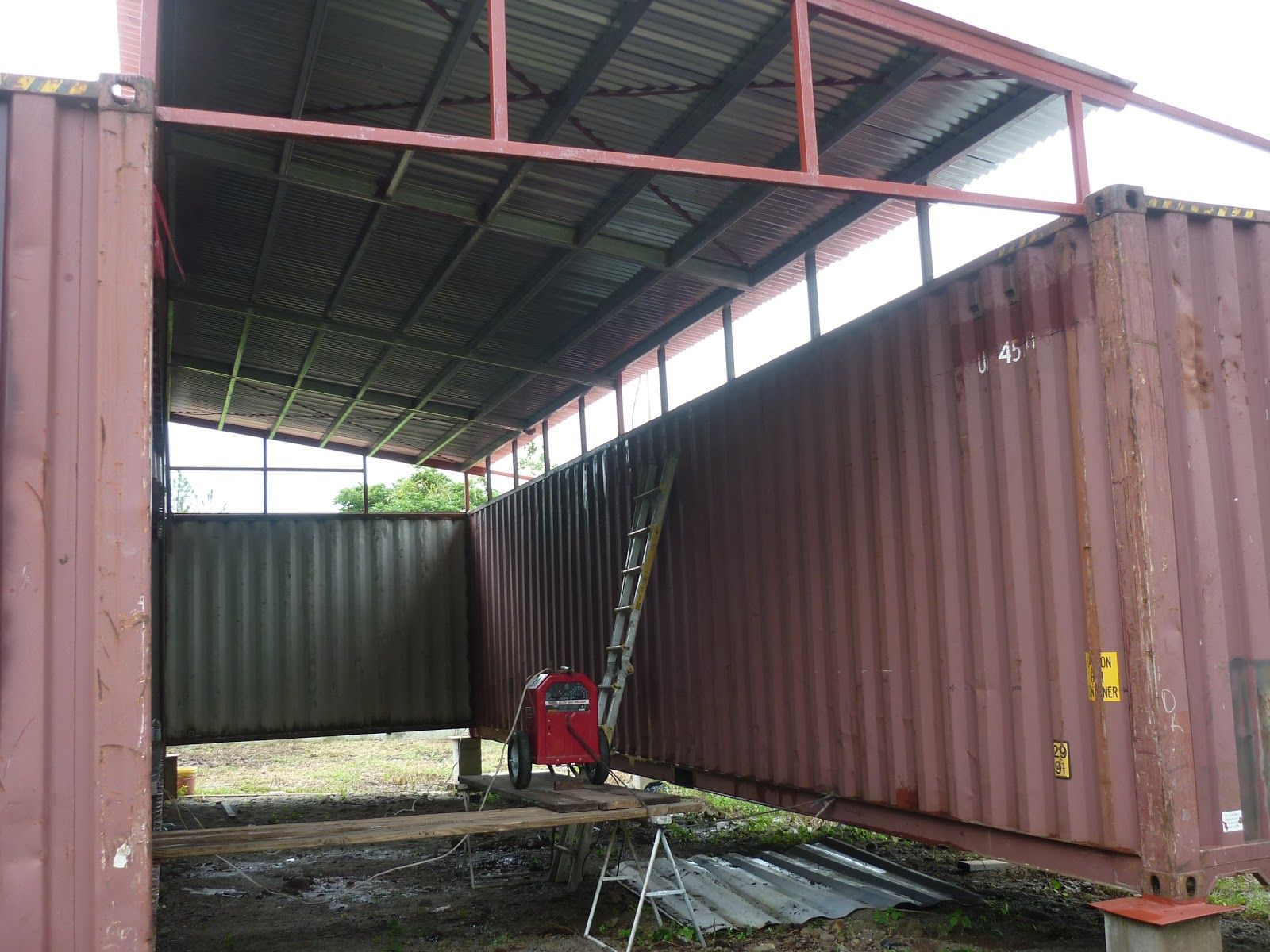 shipping container homes, small home living, isbus, corten steel