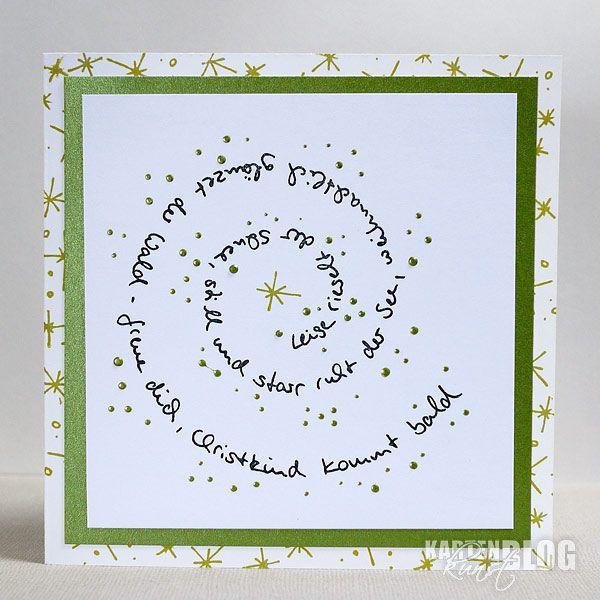 Karten-Kunst Clear Stamp Set - Spiral-Text Schnee bei Karten-Kunst