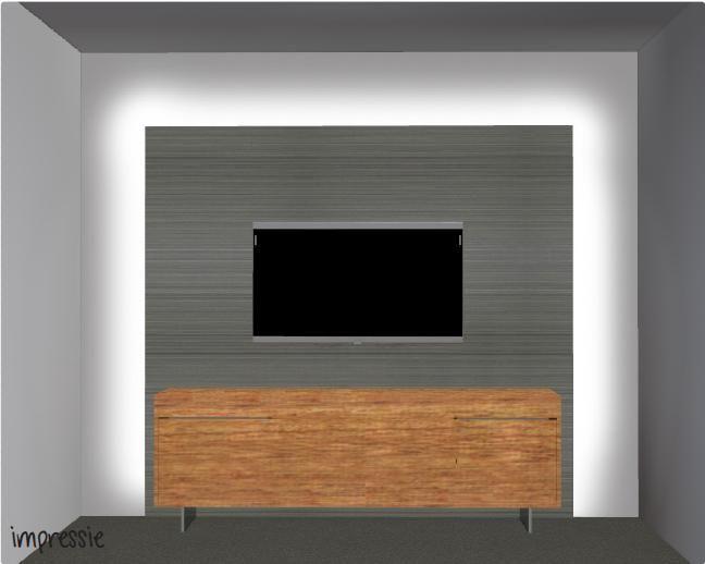 tv wand met LED verlichting | Klijntje | Interieur - TV muur | Pinterest