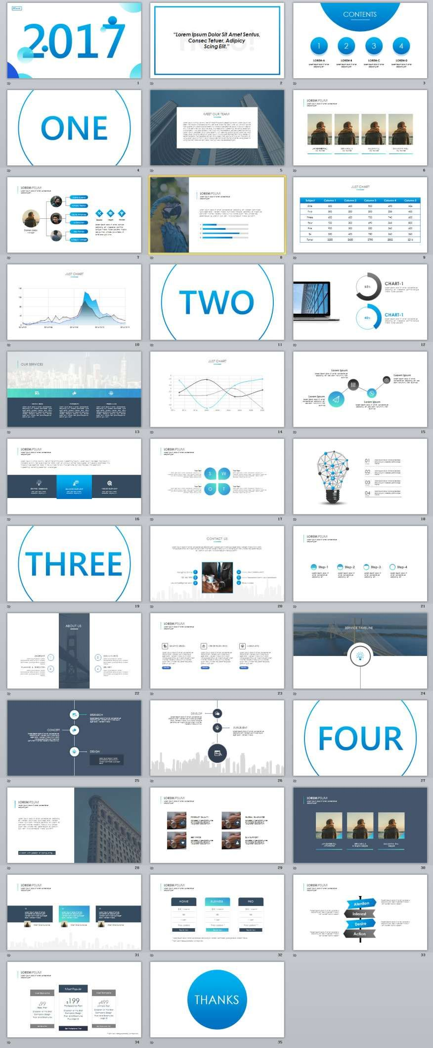 35 Slide Best Blue Business PowerPoint TemplatesThe highest quality PowerPoint Templates and Keynote Templates download