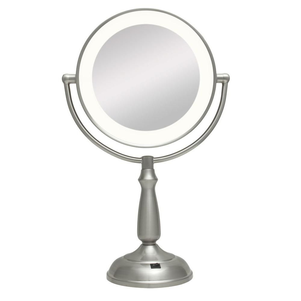Zadro Ultra Bright Led Lighted 10x 1x Round Vanity Makeup