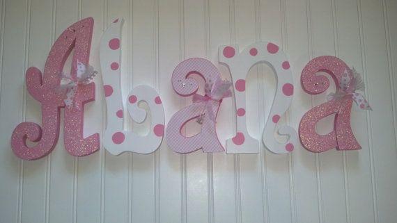Hanging nursery letters nursery letters baby von RachelsWoodBarn