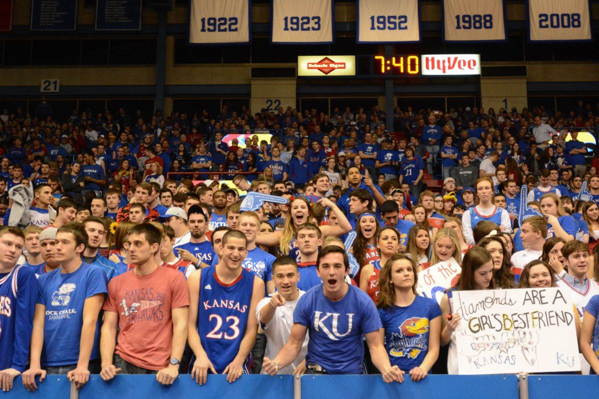NCAA Basketball Oklahoma at Kansas Kansas basketball