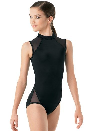 031f4d651b3f Kids and Adult High Neck Dance Leotard with Mesh Inserts by Balera ...