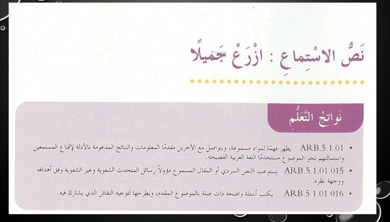 بوربوينت استماع درس ازرع جميلا للصف الخامس مادة اللغة العربية Bullet Journal Journal