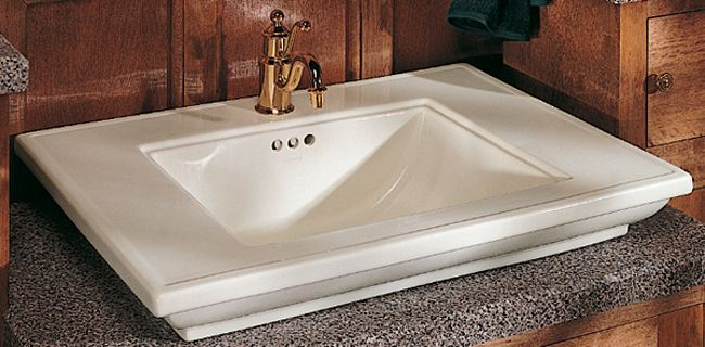 Memoirs R Pedestal Console Table Bathroom Sink Basin With 8 Inch
