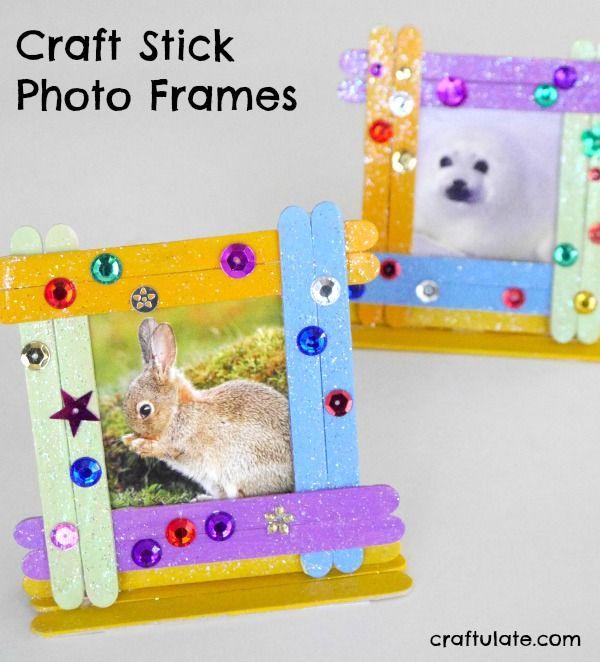 Craft Stick Photo Frames A Fun Kids