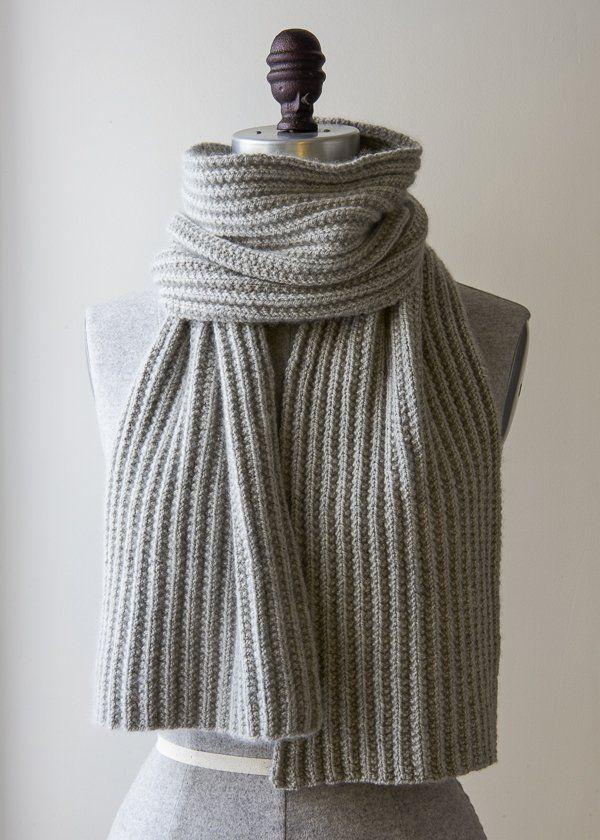 Mistake Rib Scarf in Cashmere Merino Bloom   Purl Soho-Knitting ...