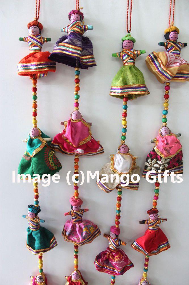 LT1 Pair of Handicrafts Multicolored Beads Latkan DOOR Decoration for DIWALI