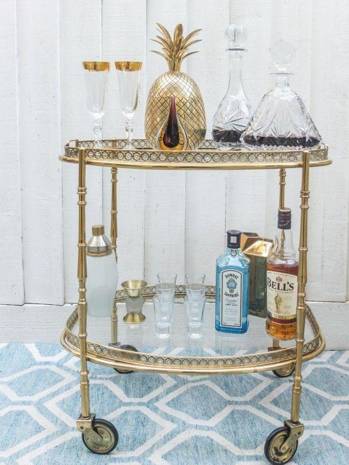 one vintage drinks trolley three ways drinks trolley. Black Bedroom Furniture Sets. Home Design Ideas