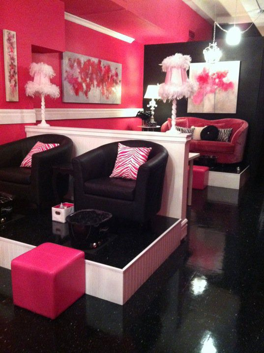 Black And Pink Girls Room