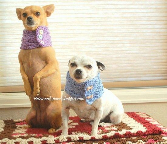 Crochet Dog Bandana Pattern Ideas Video Tutorial | Tiere häkeln ...