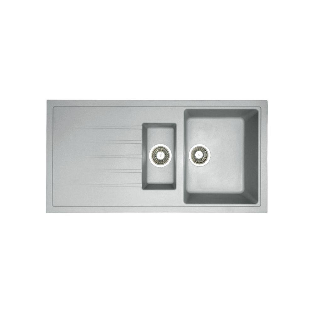 Zd150-gry Zirco 1.5 Bowl Granite Kitchen Sink in Silver Grey ...