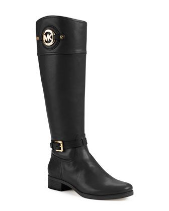 667a5a2feae2a MICHAEL Michael Kors Stockard Two-Tone Leather Riding Boot. My new boots