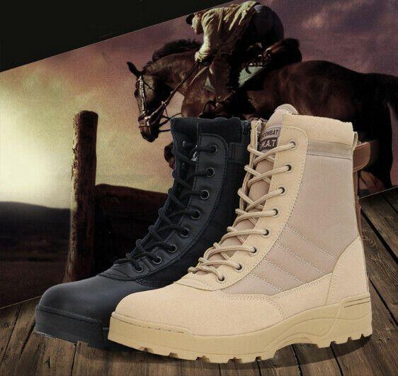 sale retailer ffbfe 97b54 Anfibi Uomo Scarpe Tattico Militare Desert Caviglia Stivali ...