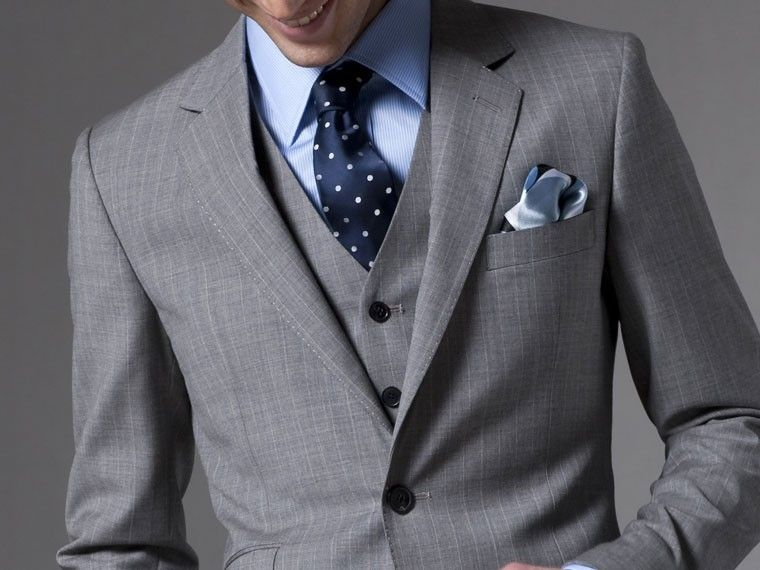 The Legal Counsel Gray Pinstripe Three-Piece Suit | Grey, Suits ...