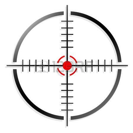 Crosshair Or Reticle Vector Illustration Logo Design