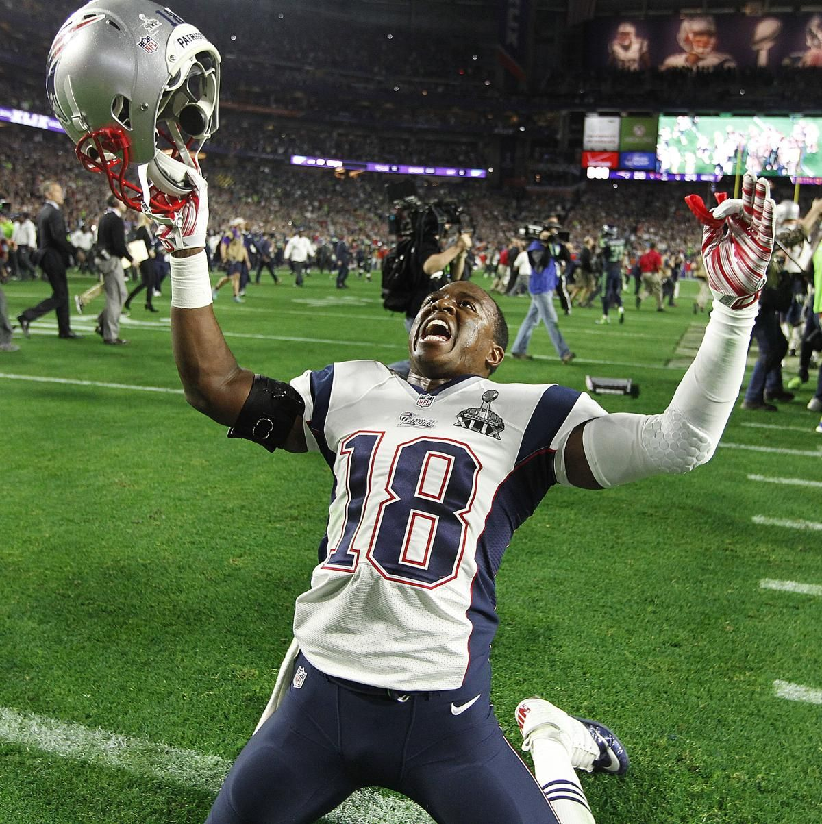 Super Bowl Xlix Patriots Vs Seahawks The Boston Globe Matthew Slater New England Patriots Super Bowl