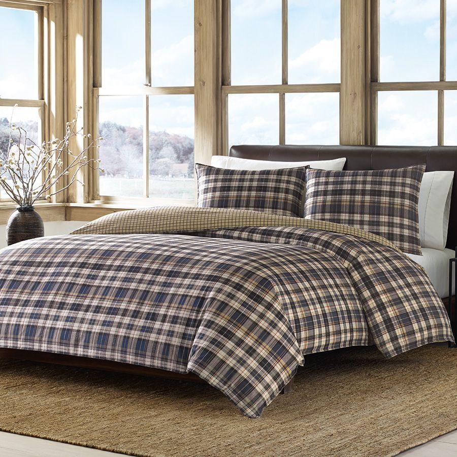 Eddie Bauer Port Gamble Comforter & Duvet Set. #winterbedroom
