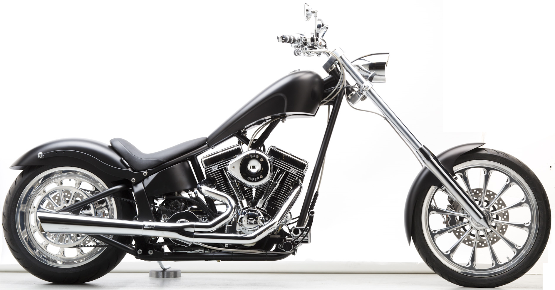 Genial Kansas Motorcycle Works USA Regulator   Flat Black Chopper.  Http://kansasmotorcycleworks