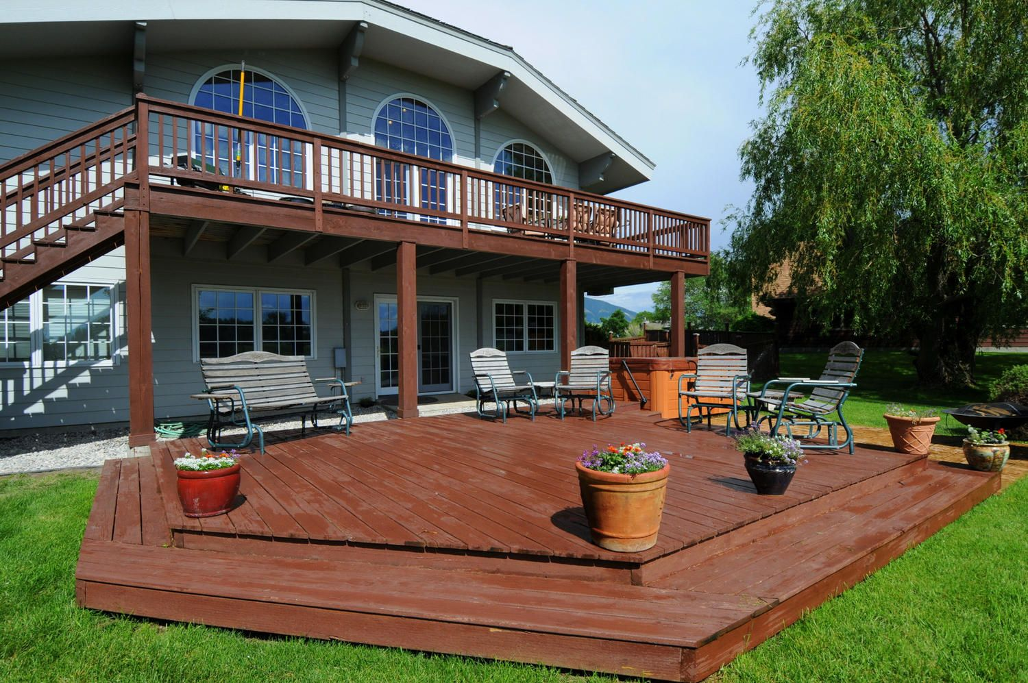 Image Result For Extending Concrete Patio With Wood Deck