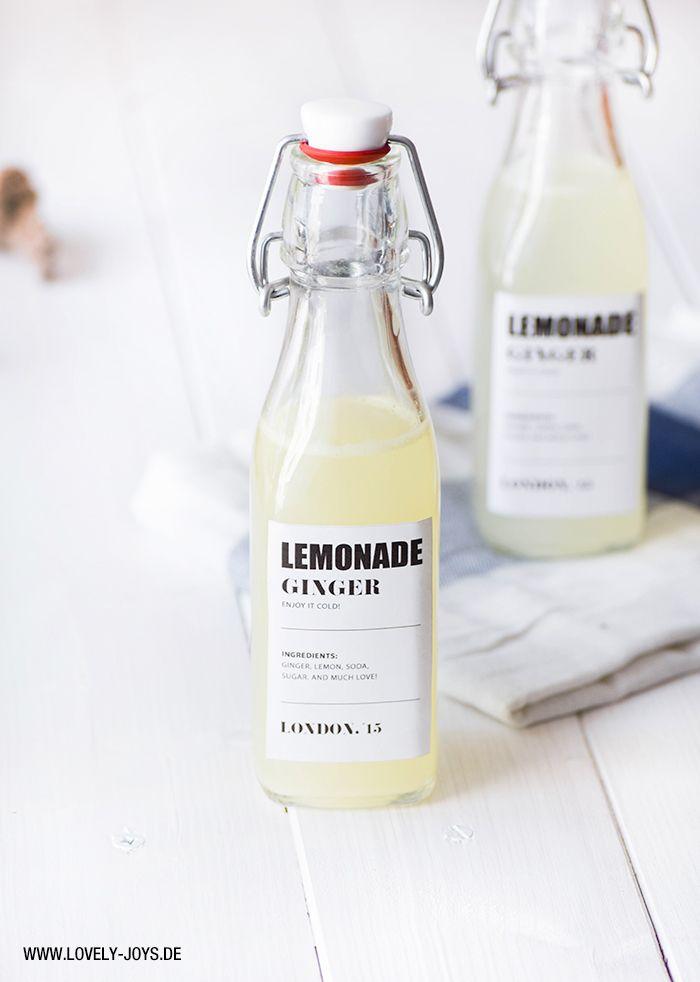 homemade lemon ginger lemonade ...   DRANKJES   Recepten ...  homemade lemon ...