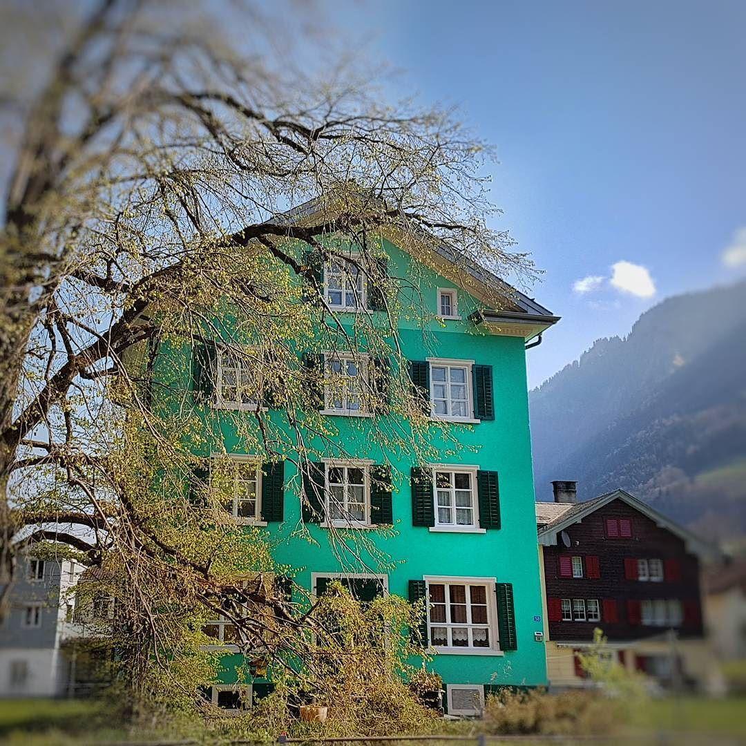 #farben #grün #türkis #birke #haus #home #schweiz #igersuisse #glarus  #linthal #linthalfan #glarnerland